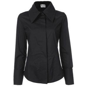 Balossa Black Shirt Edira Pointed Collar Shirt